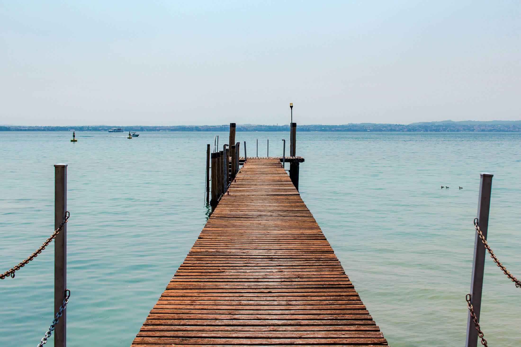 Pier at Sirmione Gardasee Italy